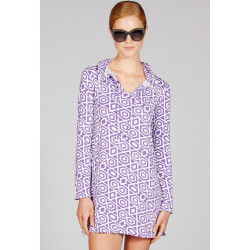 Mott50 Nancy Hooded Cover-Up Lavender Diamond
