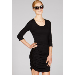 Mott50 Dames Ruch Dress Faith Black