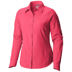 Columbia Dames UV blouse Silver Ridge Bright Geranium