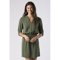 Mott50 Drawstring Dress Charlotte Safari Green