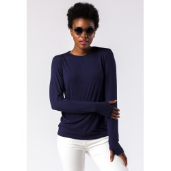 Mott50 Michelle UV Shirt Lange mouw Navy