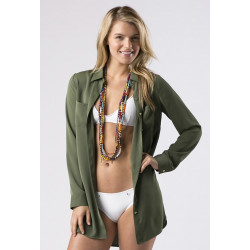 Mott50 Dames Josie Boyfriend Button Down Safari Green
