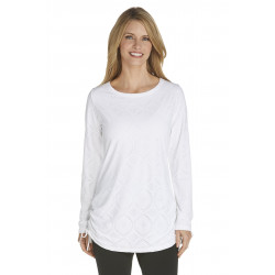 Coolibar - UV werend tuniek / longsleeve top dames - wit