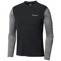 Columbia Heren Zero Rules Longe Sleeve Black, Black Heather