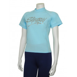 Stingray dames UV surf shirt korte mouwen- aqua