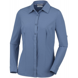 Columbia Dames UV Blouse Saturday Trail Stretch Blue Dusk