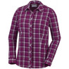 Columbia Dames UV Blouse Saturday Trail Stretch Plaid Wine Berry
