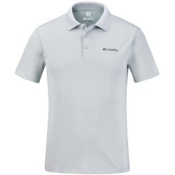 Columbia Heren Zero Rules Short Sleeve Polo Cool Grey