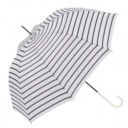 Ezpeleta UPF50 UV Ladies Parasol Gestreept White / Navy