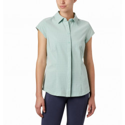 Columbia Dames UV Blouse Saturday Trail II Stretch Korte Mouw New Mint