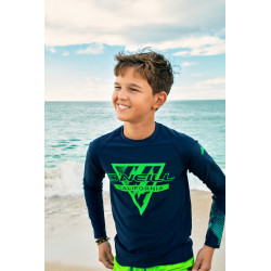 O'Neill Boys UV Shirt Lange Mouw Blue AOP