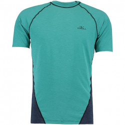 O'Neill Heren UV Shirt Korte Mouw Green-Blue Slate