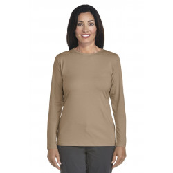 Coolibar - UV Longsleeve shirt dames - khaki