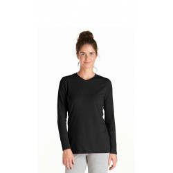 Coolibar - UV Longsleeve shirt dames - zwart