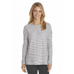 Coolibar - UV-Shirt dames - Zwart / Wit