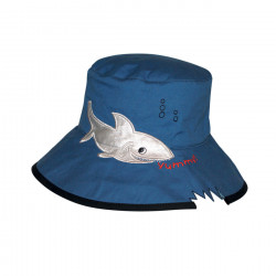 Rigon - UV Bucket hat voor kinderen - Blue shark