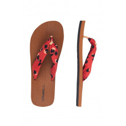 O'Neill - Slippers voor dames - Ditsy Sun - Rood