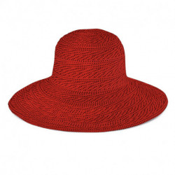 Emthunzini Hats - UV Floppy zonnehoed voor dames - Scrunchie - Rood