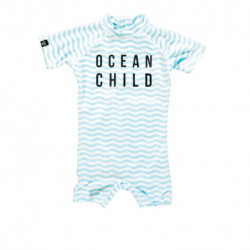 Beach & Bandits - UV-pakje baby - Ocean Child shorty - Wit-blauw