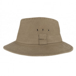 Hatland - UV Bucket hat voor heren - Wishmen - Olijgroen