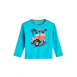Coolibar - UV Shirt voor peuters - Longsleeve - Coco Plum Graphic - Turquoise